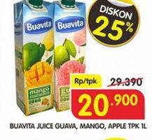 Promo Harga BUAVITA Fresh Juice Guava, Mango, Apple 1 ltr - Superindo