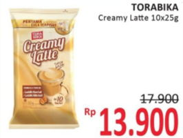 Promo Harga TORABIKA Creamy Latte per 10 sachet 25 gr - Alfamidi