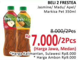 Promo Harga FRESTEA Minuman Teh Jasmine, Madu, Apel, Markisa per 2 botol 350 ml - Alfamidi