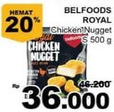 Promo Harga BELFOODS ROYAL Chicken Nugget 500 gr - Giant