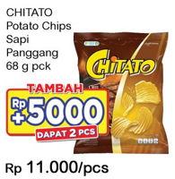 Promo Harga CHITATO Snack Potato Chips Sapi Panggang 68 gr - Indomaret