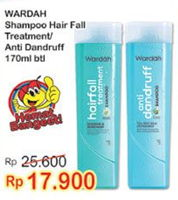 Promo Harga WARDAH Shampoo Hair Fall, Anti Dandruff 170 ml - Indomaret