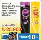 Promo Harga SUNSILK Shampoo Black Shine, Soft And Smooth, Refresh Volume 340 ml - Indomaret