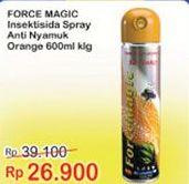 Promo Harga FORCE MAGIC Insektisida Spray Orange 600 ml - Indomaret