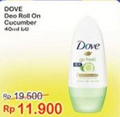 Promo Harga DOVE Deo Roll On GF Cucumber 40 ml - Indomaret