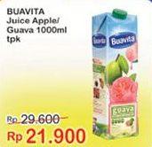 Promo Harga BUAVITA Fresh Juice Apple, Guava 1000 ml - Indomaret