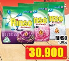 Promo Harga RINSO Molto Detergent Bubuk 1800 gr - Hari Hari