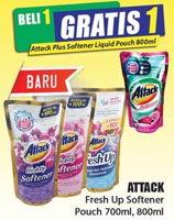 Promo Harga ATTACK Fresh Up Softener 700ml, 800ml  - Hari Hari