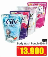 Promo Harga GIV Body Wash 450 ml - Hari Hari