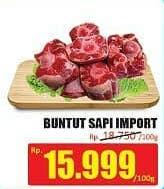 Promo Harga Buntut Sapi Import per 100 gr - Hari Hari