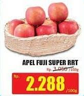 Promo Harga Apel Fuji Super RRT per 100 gr - Hari Hari