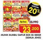 Promo Harga MUNIK MUNIK Bumbu 50gr - 180gr  - Superindo