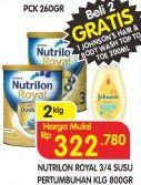 Promo Harga NUTRILON NUTRILON Royal 3/4 Susu Pertumbuhan 800gr  - Superindo
