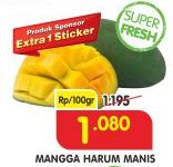 Promo Harga Mangga Harum Manis per 100 gr - Superindo