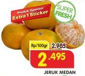 Promo Harga Jeruk Medan per 100 gr - Superindo