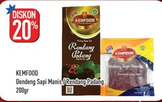 Promo Harga KEMFOOD KEMFOOD Dendeng Sapi Manis/Rendang Padang 200gr  - Hypermart