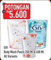 Promo Harga GIV GIV Body Wash 250ml/450ml  - Hypermart
