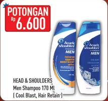 Promo Harga HEAD & SHOULDERS Men Shampoo Cool Blast, Hair Retain 170 ml - Hypermart