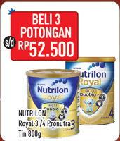 Promo Harga NUTRILON NUTRILON Royal 3/4 Susu Pertumbuhan 800gr  - Hypermart