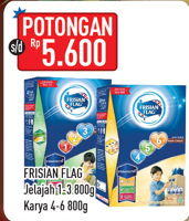 Promo Harga FRISIAN FLAG 123 Jelajah / 456 Karya 800 gr - Hypermart