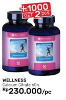 Promo Harga WELLNESS Calcium Citrate 60 pcs - Guardian