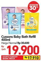 Promo Harga CUSSONS BABY Bath 400 ml - Carrefour