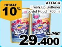 Promo Harga ATTACK Fresh Up Softener Joyfull Paradise 700 ml - Giant