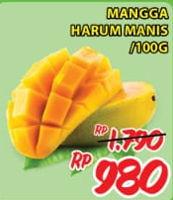 Promo Harga Mangga Harum Manis per 100 gr - Giant