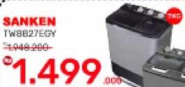 Promo Harga SANKEN TW-8827EGY | Washing Machine  - Yogya