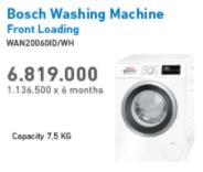 Promo Harga BOSCH WAN20060ID | Washing Machine Front Loading 7.5kg  - Electronic City