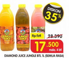 Promo Harga DIAMOND Jungle Juice All Variants 1000 ml - Superindo