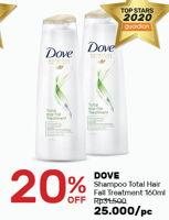 Promo Harga DOVE Shampoo Total Hair Fall 160 ml - Guardian