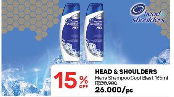 Promo Harga HEAD & SHOULDERS Men Shampoo Cool Blast  - Guardian