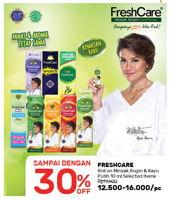 Promo Harga FRESH CARE Minyak Angin + Kayu Putih 10 ml - Guardian