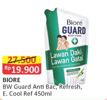Promo Harga BIORE Guard Body Foam Active Antibacterial, Lively Refresh, Energetic Cool 450 ml - Alfamart