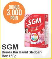 Promo Harga SGM Bunda Susu Ibu Hamil & Menyusui Stroberi 150 gr - Alfamart