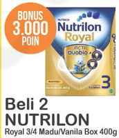 Promo Harga NUTRILON NUTRILON Royan 3/4 Susu Pertumbuhan 400gr  - Alfamart