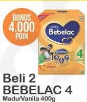 Promo Harga BEBELAC 4 Susu Pertumbuhan Madu, Vanila per 2 box 400 gr - Alfamart