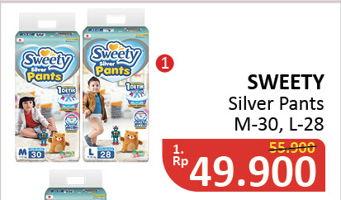 Promo Harga SWEETY Silver Pants M30, L28  - Alfamidi