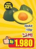 Promo Harga Alpukat per 100 gr - Hypermart