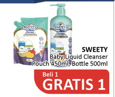 Promo Harga SWEETY SWEETY Baby Liquid Cleanser  - Alfamidi