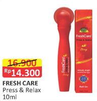 Promo Harga FRESH CARE Minyak Angin Press & Relax 10 ml - Alfamart