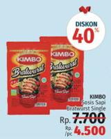 Promo Harga KIMBO Bratwurst Single  - LotteMart