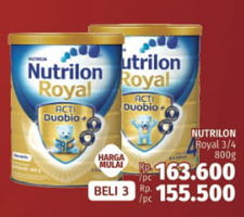 Promo Harga NUTRILON Royal 3/4 800g  - LotteMart