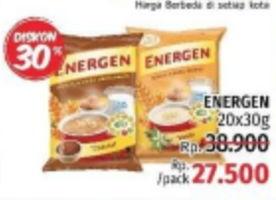 Promo Harga ENERGEN Cereal Instant per 20 sachet 30 gr - LotteMart