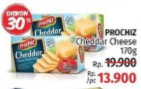 Promo Harga PROCHIZ Keju Cheddar 170 gr - LotteMart