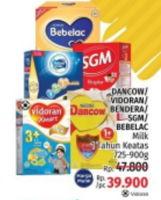 Promo Harga DANCOW BEBELAC/DANCOW/FRISIAN FLAG/VIDORAN/SGM Susu Anak Di Atas 1 Tahun 725gr - 900gr  - LotteMart