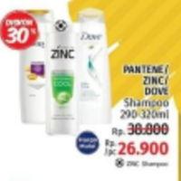 Promo Harga PANTENE PANTENE/DOVE/ZINC Shampoo 290ml - 320ml  - LotteMart