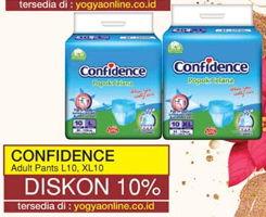 Promo Harga CONFIDENCE Adult Diapers Pants L10, XL10  - Yogya