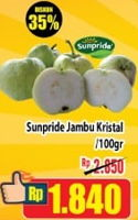 Promo Harga SUNPRIDE Jambu Crystal per 100 gr - Hypermart